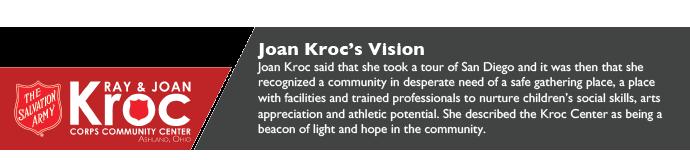 Joan Kroc's Vision